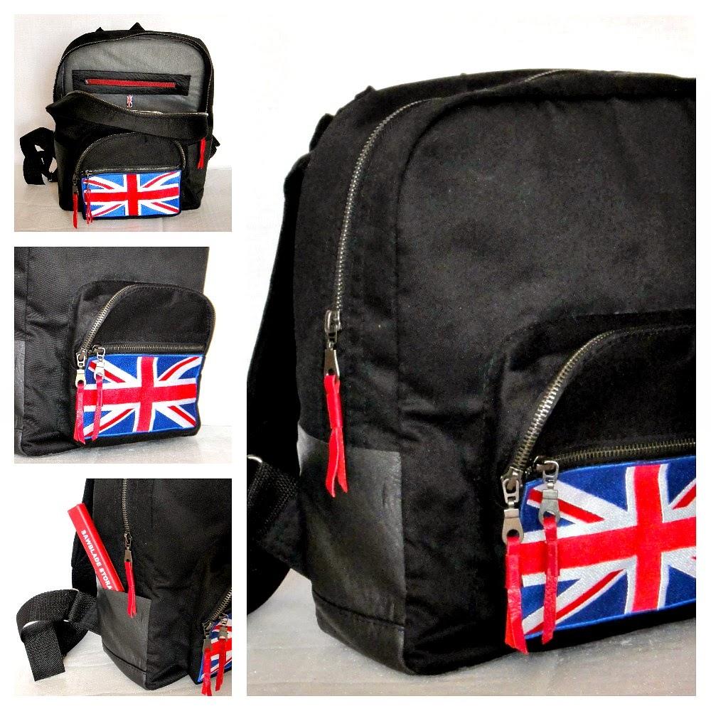 Сумка рюкзак черный ЛондонБританский флаг