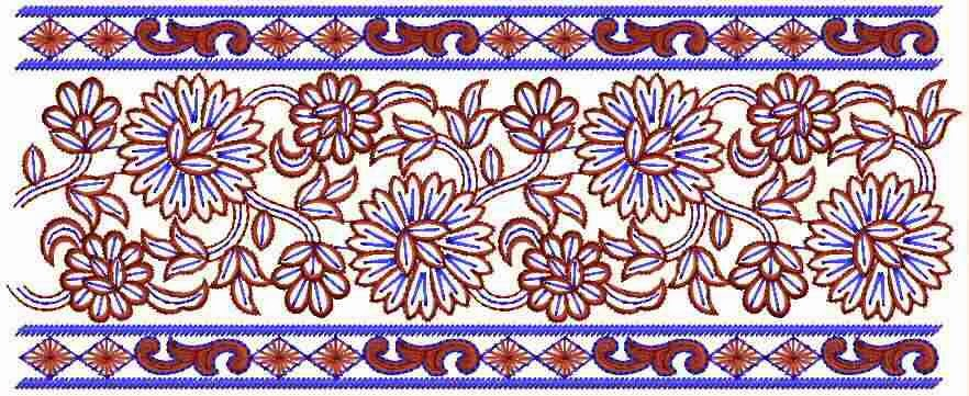 Embdesigntube exclusive embroidery lace designs for Exclusive bordering