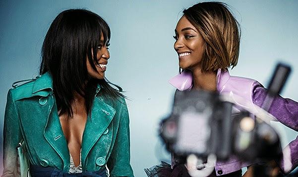 Top Model Naomi Campbell and Jourdan Dunn photo shoot