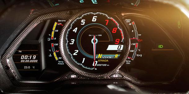 Lamborghini Aventador Carbonado interior