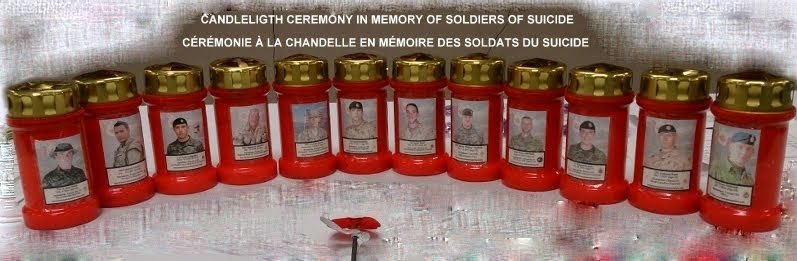 Oromocto NB Candlelight Ceremony in memory of Soldiers of Suicide