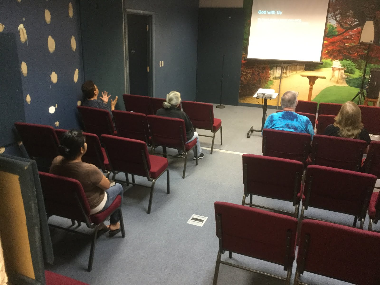 Teaching Wednesday-Night Service at CC Clermont
