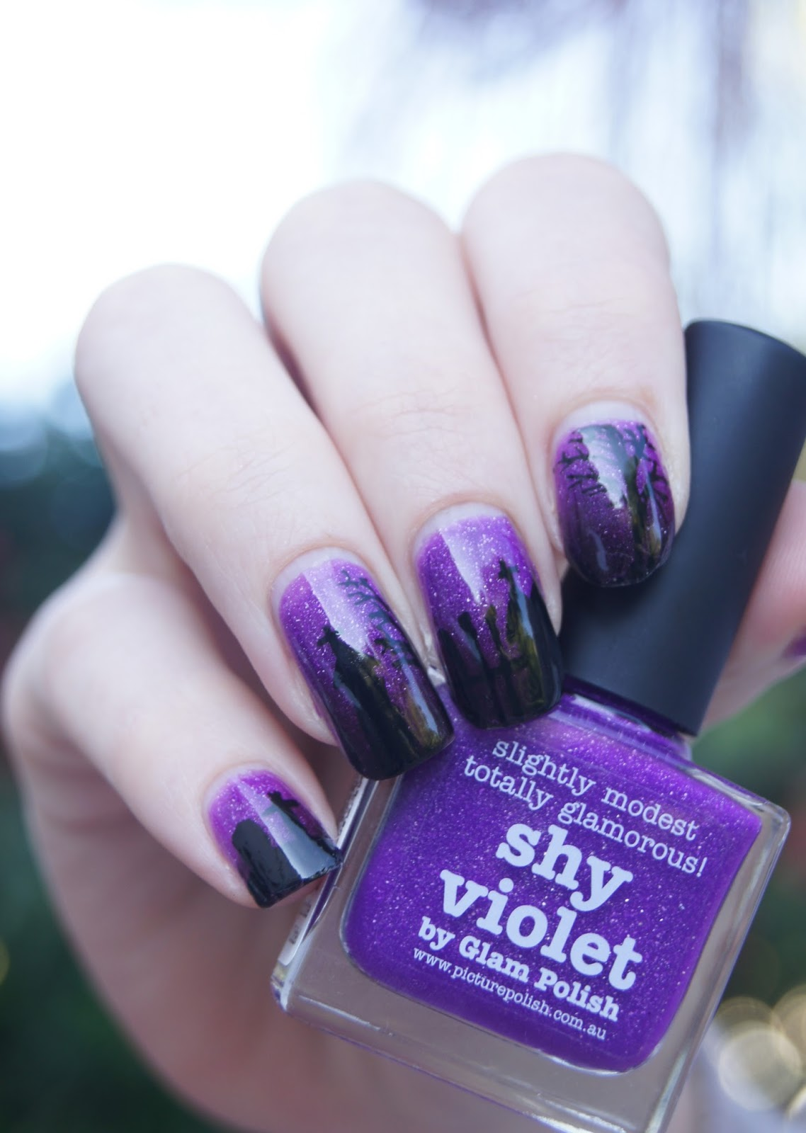 ongles cimetière halloween nails