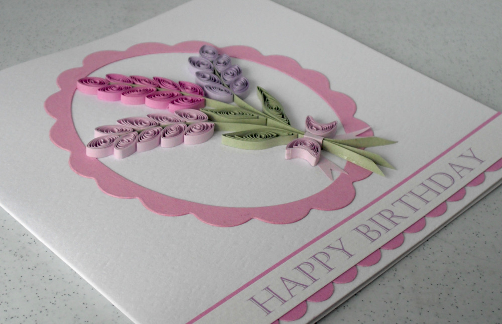 Paper Daisy Cards: Quilled teacups card