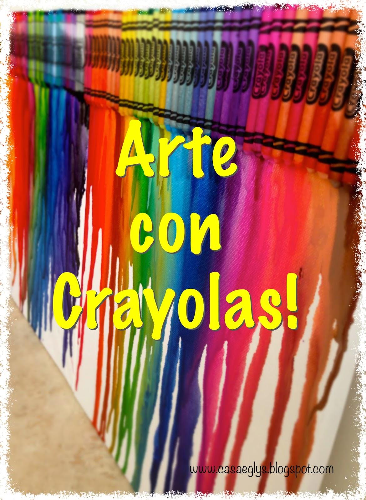 Casa Eglys: DIY: Arte con Crayolas - Juego para niños!