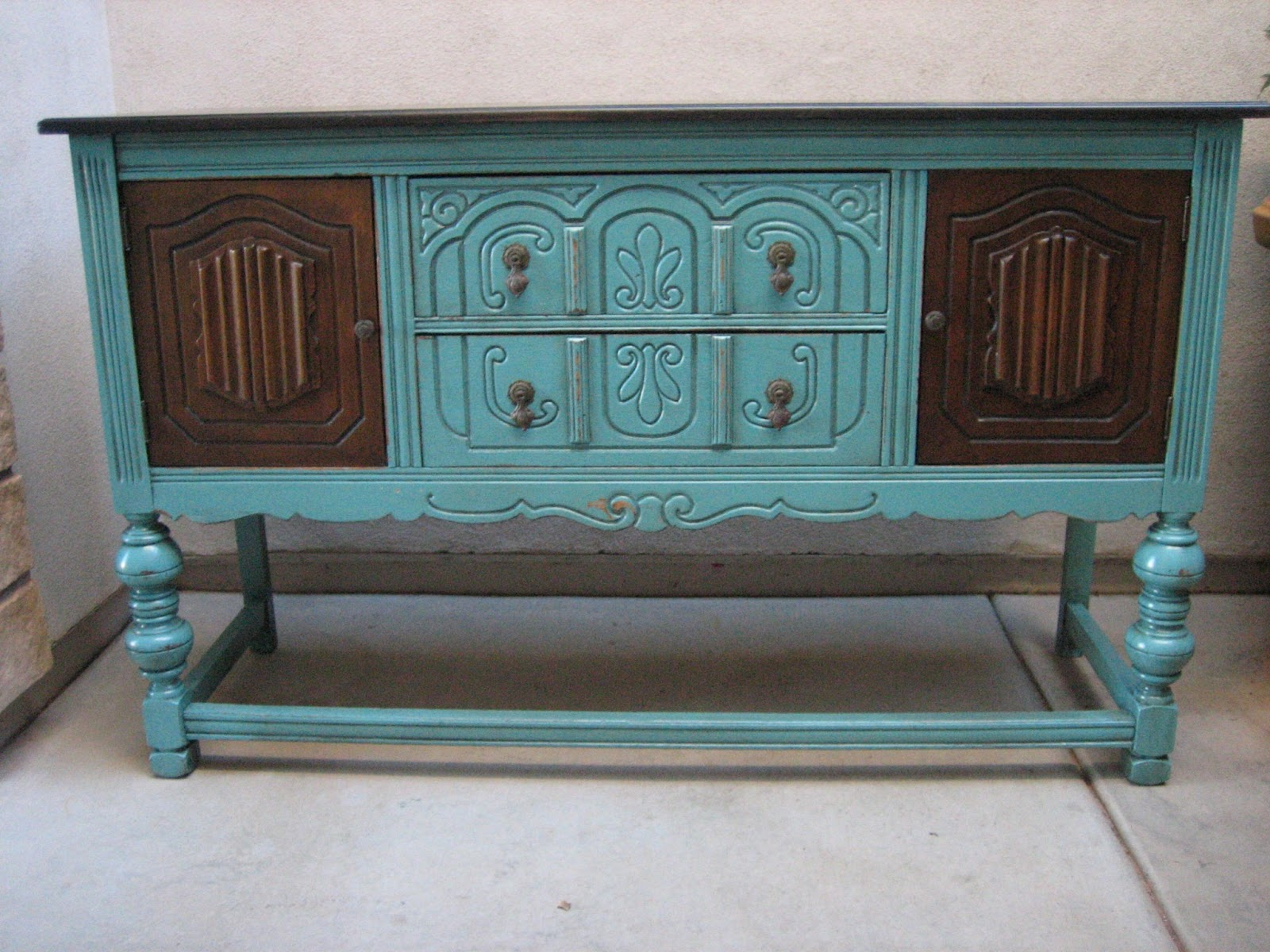 Painted buffet table furniture - Simple European Paint Finishes Custom Work And A Heads Up With Painted Buffet Table