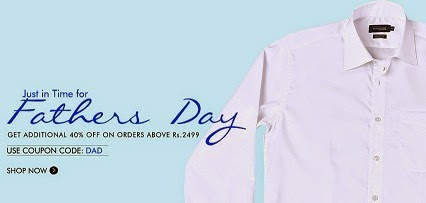 Father's Day Offer: Flat 40% Extra Off on Clothing | Footwear | Accessories @ Myntra