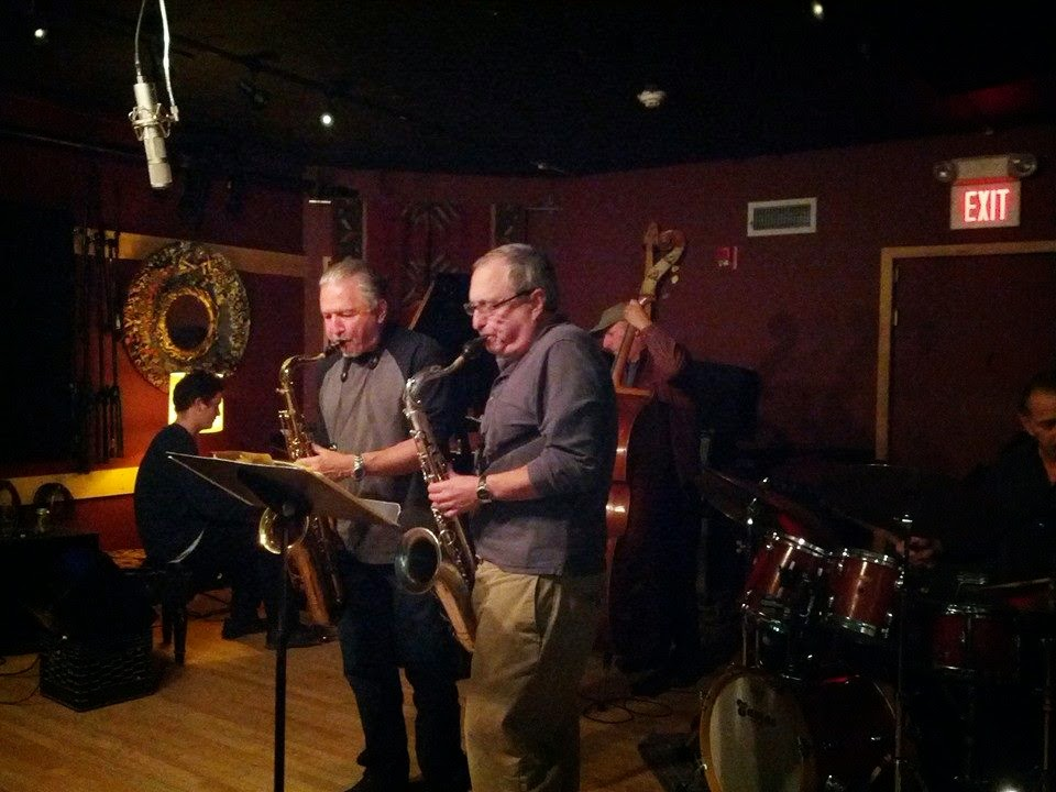 Saxophonists Jerry Bergonzi and George Garzone performing at the Lilypad in Cambridge, MA