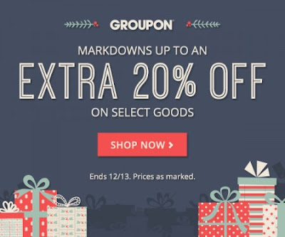 Groupon Markdowns Up To An Extra 20% Off Select Goods