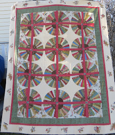 Quilt on the frames