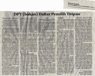 Tulisan di media koran Radar Cirebon Cecep Husni Mubaroj