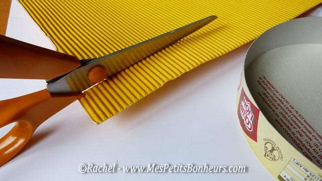 Amiga da educa o latinha decorada com papel o ondulado - Fabriquer une boite a bijoux en carton ...