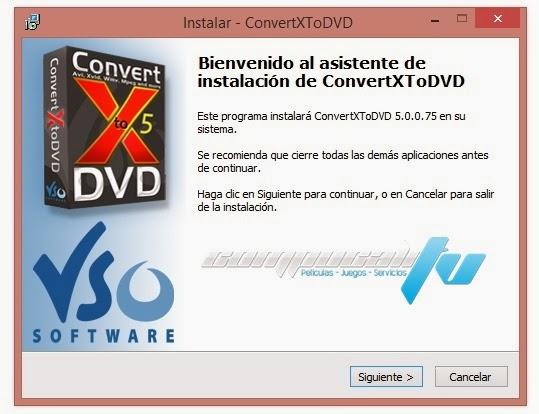 VSO ConvertXtoDVD Español Versión 5.2.0.7