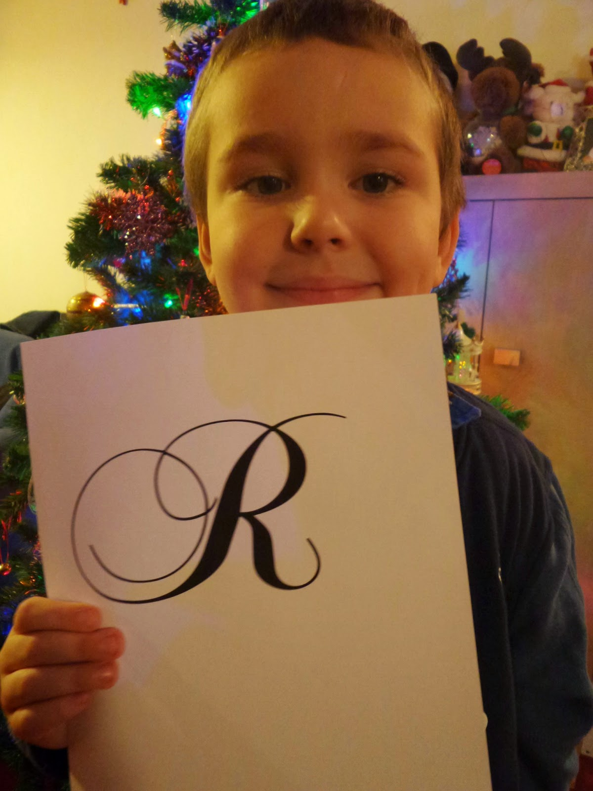 Big Boy with the letter R