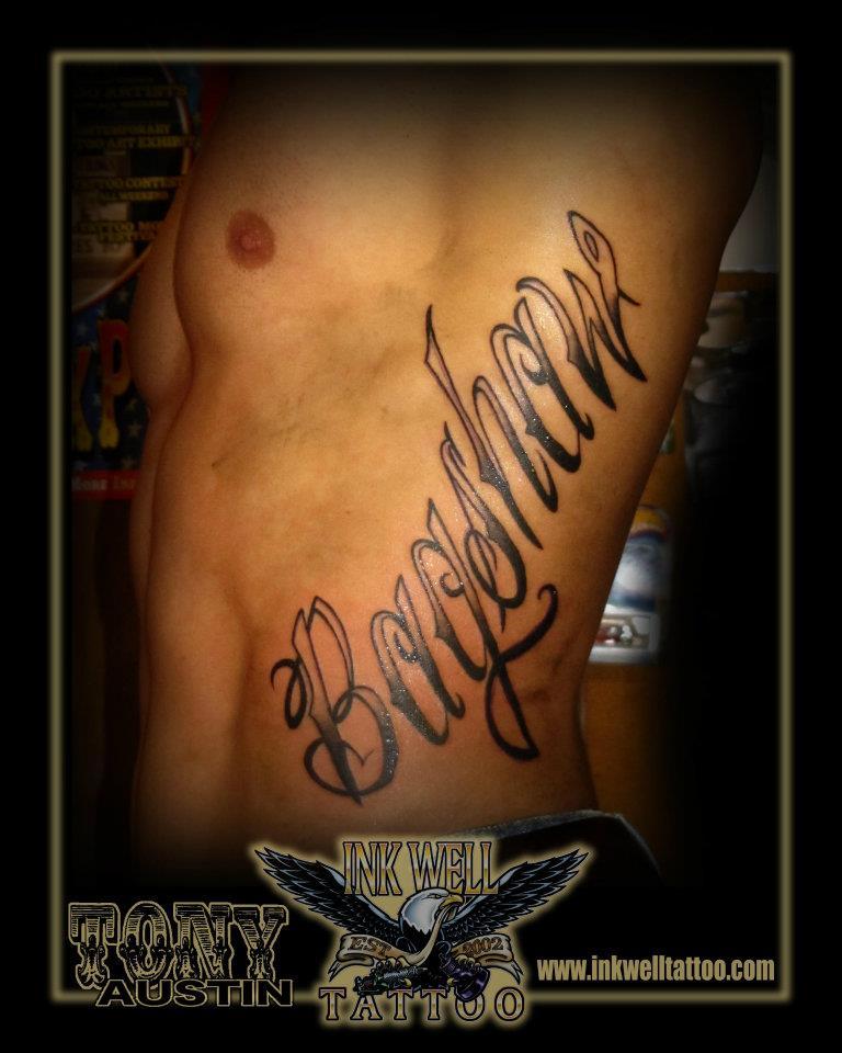 Tony Austin Tattoos: Rib Tattoo - Bagshaw