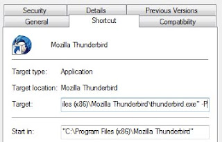 Acceso directo de Thunderbird