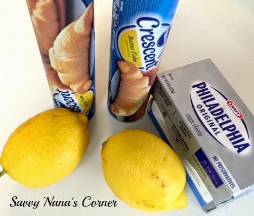 Lemon Cream Cheese Pastry Squares