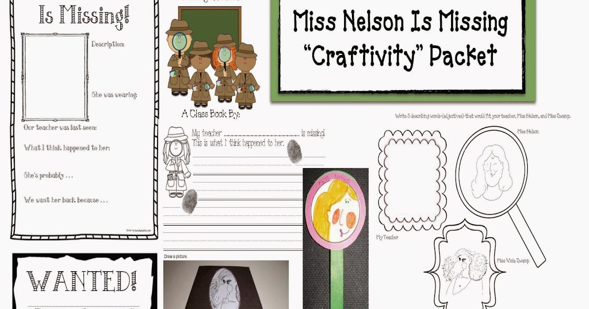 Printables Miss Nelson Is Missing Worksheets classroom freebies miss nelson is missing packet