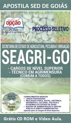 Apostila Concurso SEAGRI GO - Técnicos em Agrimensura - SED de Goiás 2016