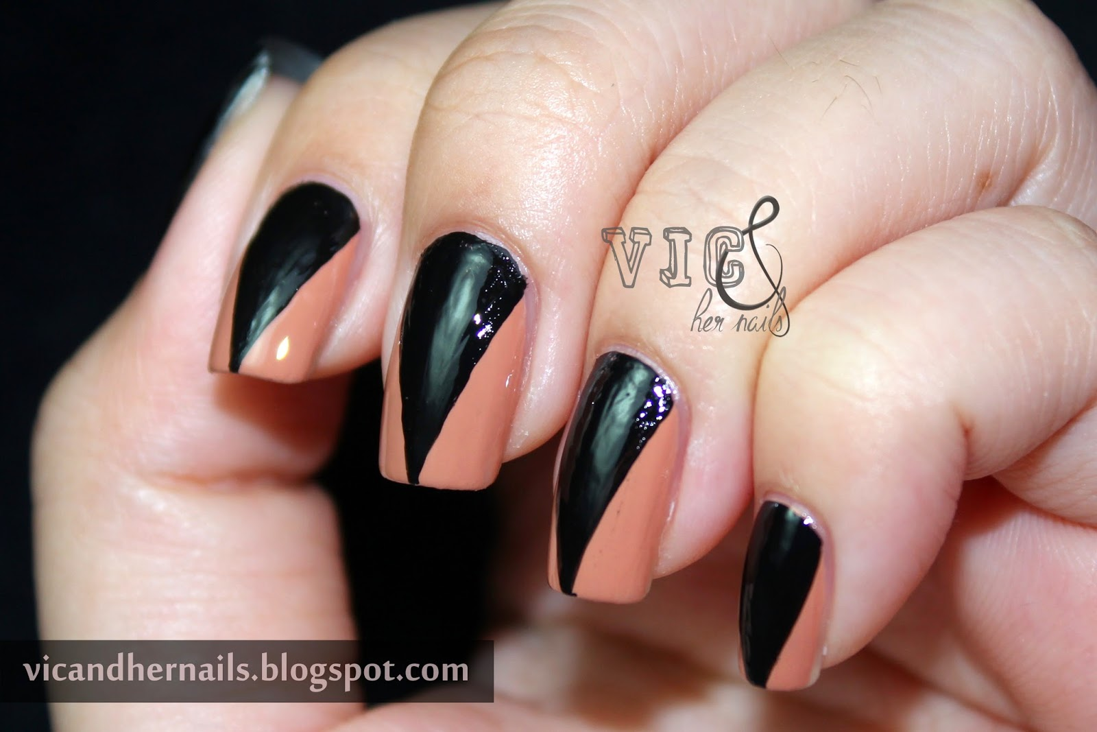 Vic and Her Nails: Halloween Nail Art Challenge - Black Cats or Bats