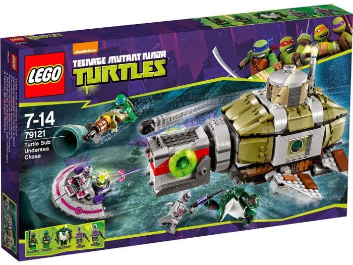 TOYS - JUGUETE - LEGO Tortugas Ninja  79121 Persecución en el Submarino Tortuga  Producto Oficial | A partir de 7 años