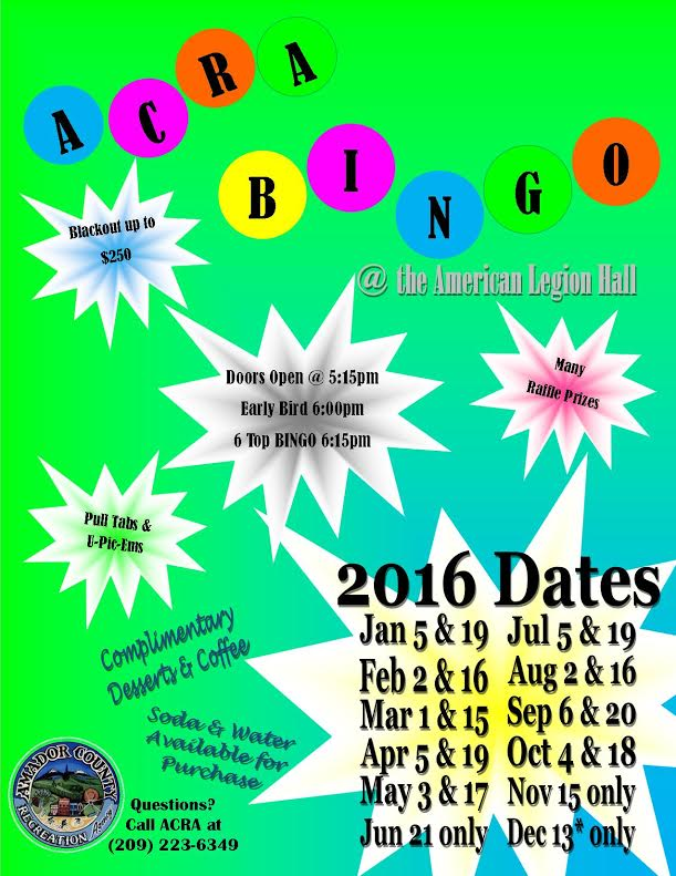ACRA Bingo - Feb 16