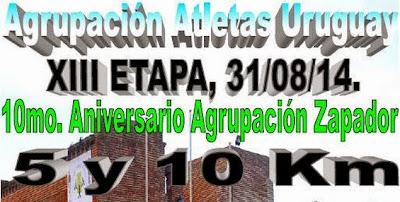 10k Zapadores (AAU, Montevideo, 31/ago/2014)