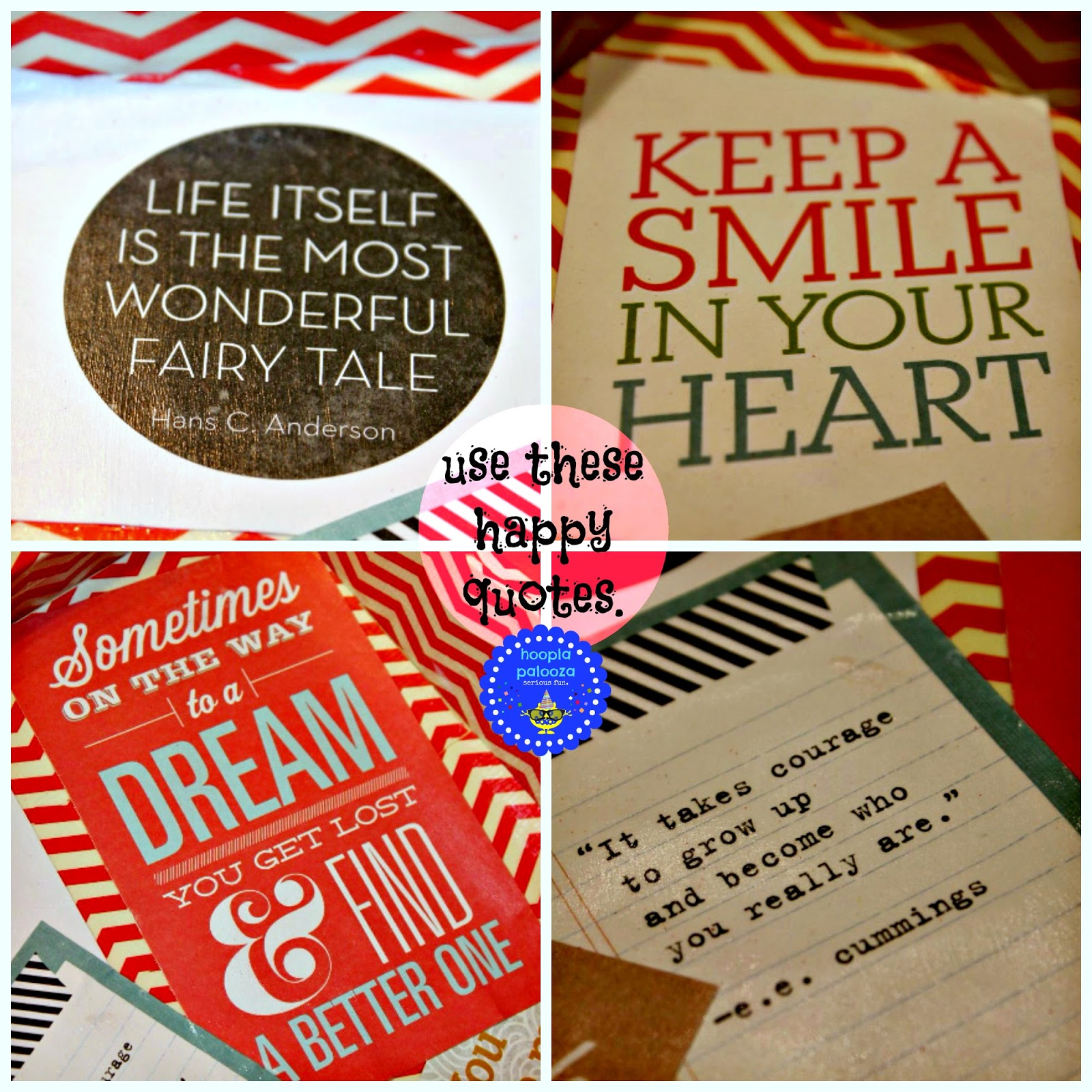 Hoopla Palooza Duct Tape Happy Quote Tray