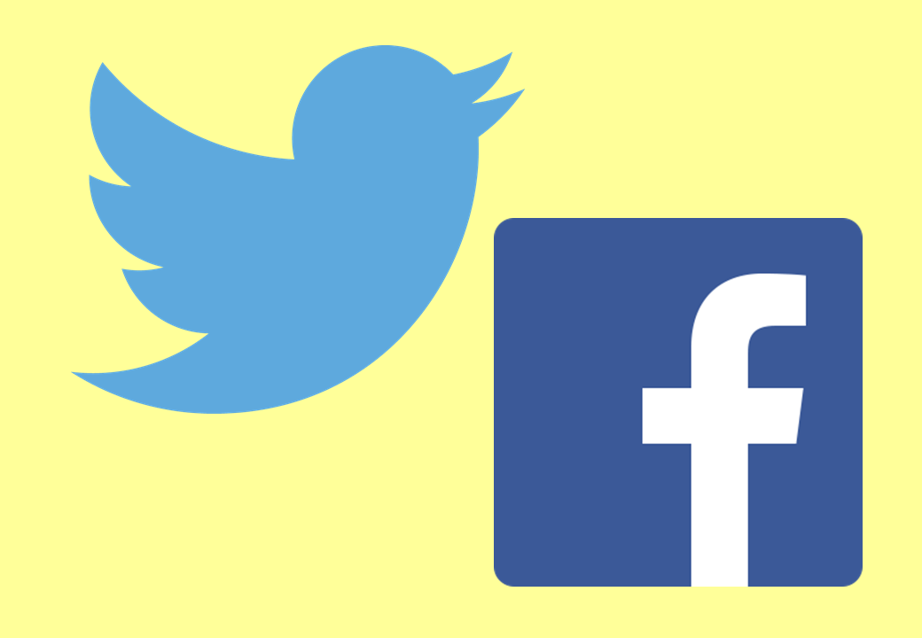 Simbolo Twitter & Facebook