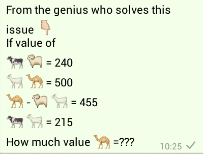 Find the Value of the Camel