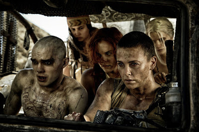 Nicholas Hoult, Charlize Theron, Riley Keough, Courtney Eaton, and Abbey Lee in Mad Max Fury Road