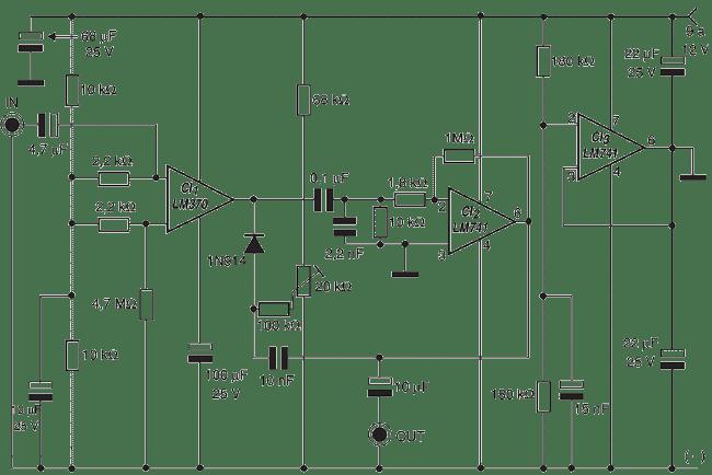 Circuito Amplificador De Audio : Electronica diagramas circuitos circuito compresor de audio