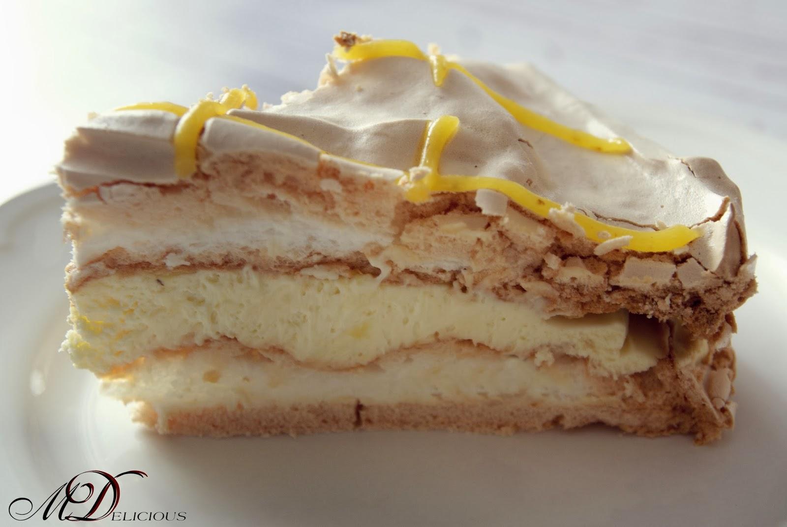 bezy, beza, torcik bezowy, tort cytrynowy