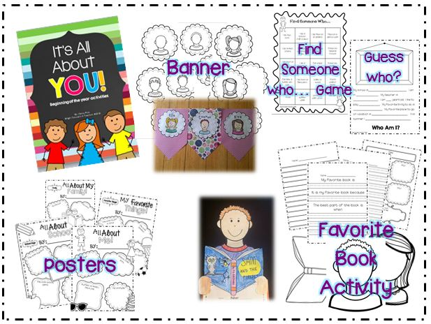 http://www.teacherspayteachers.com/Product/Its-All-About-YOU-Getting-to-Know-You-Activities-758778