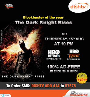 HBO HITZ and HBO Defined Channels you can do order on Dish TV only Rs. 49 per Month