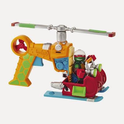 JUGUETES - LAS TORTUGAS NINJA : Half-Shell Heroes  Drop Copter + Piloto Raphael | Vehículo helicoptero + Figura   Teenage Muntant Ninja Turtles   Producto Oficial Serie Televisión | 96704 | A partir de 3 años
