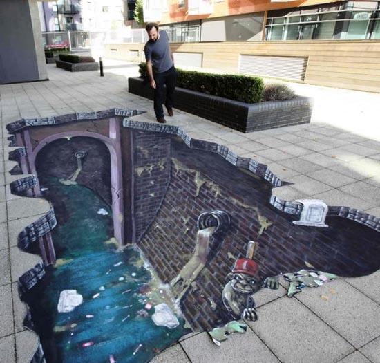 diaforetiko.gr : 3d street art 05 Δείτε εκπληκτικές 3D ζωγραφιές στο δρόμο...