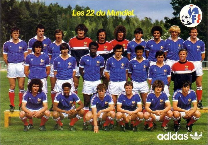 France 82 les 22 s lectionn s the vintage football club - Coupe du monde france allemagne 1982 ...