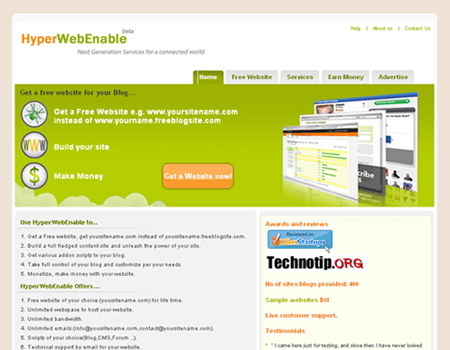 Contoh website statis