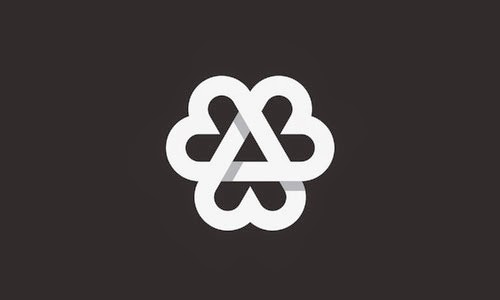 Overlapping technique Logo 3 Love