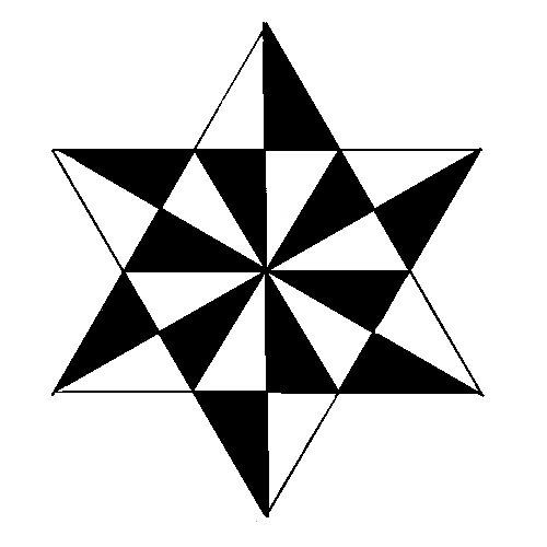 primaria al compás: Colorear una estrella de 6 puntas