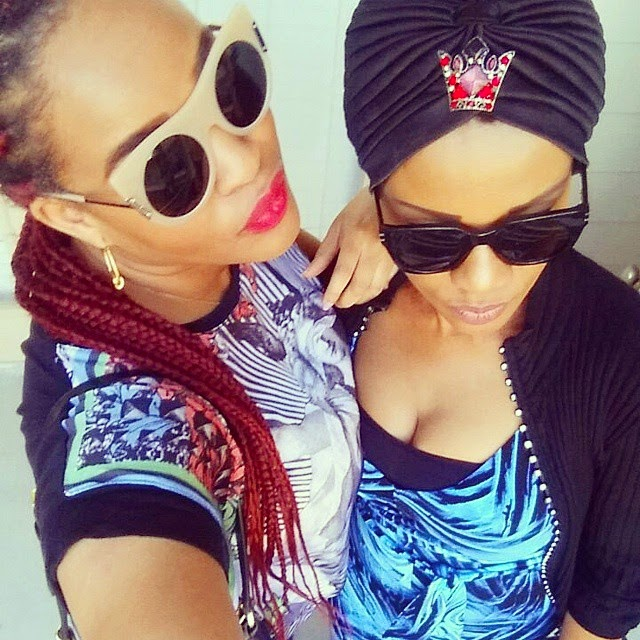 Adaeze Yobo And Her Mum Share A Kiss