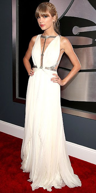 2013 Grammys dresses, Taylor Swift Grammys dress, J.Mendel