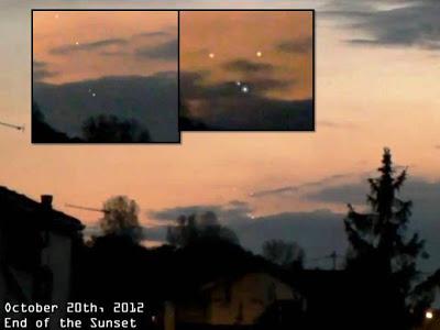 Τέσσερα ufo εθεάθηκαν στον ουρανό της