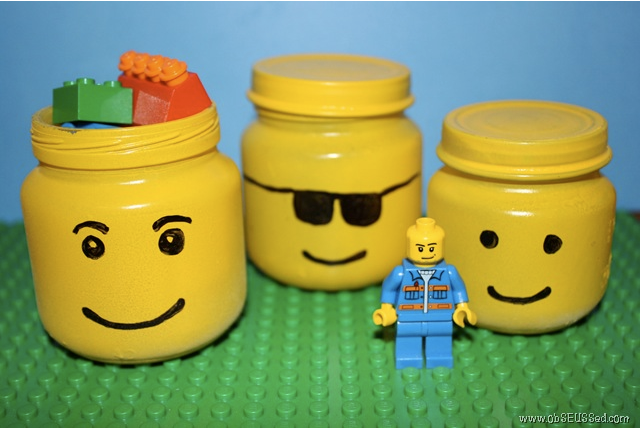 Upcycle Us: Upcycling baby food jar into cool-looking lego ...