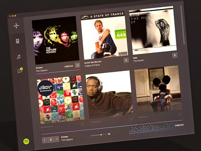 Spotify Redesign Concept PSD
