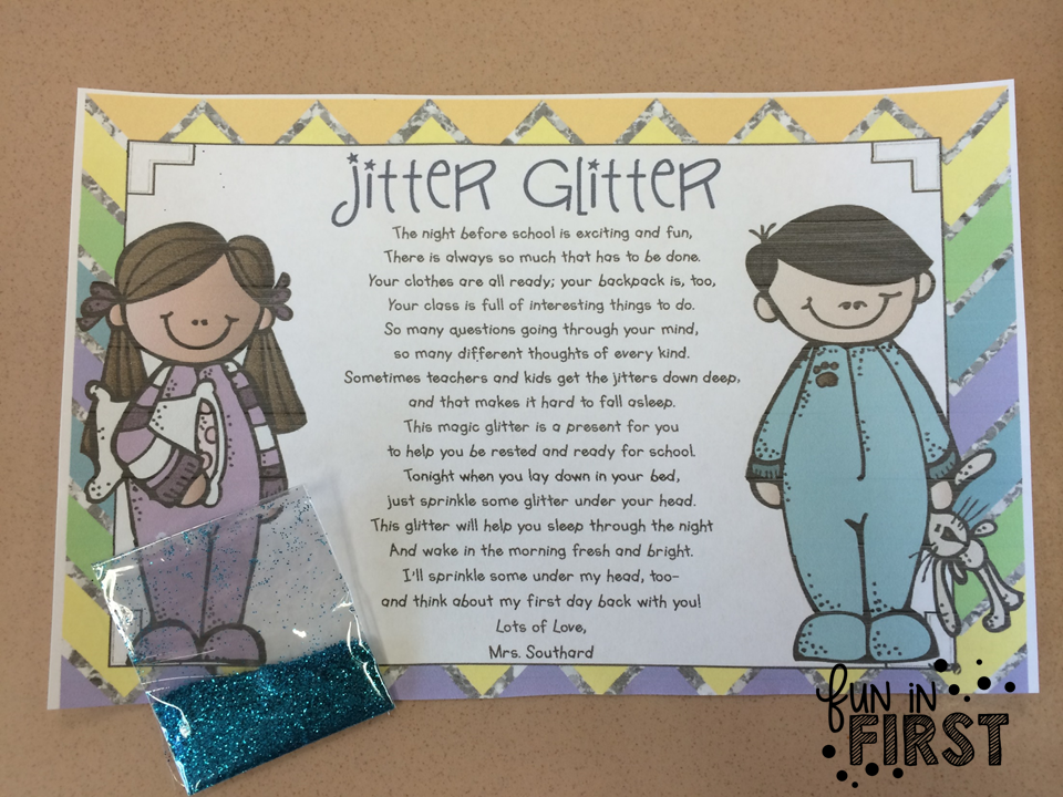 This is an image of Luscious Jitter Glitter Poem Printable