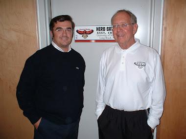 Herb Brown y Paco García. Octubre 2004