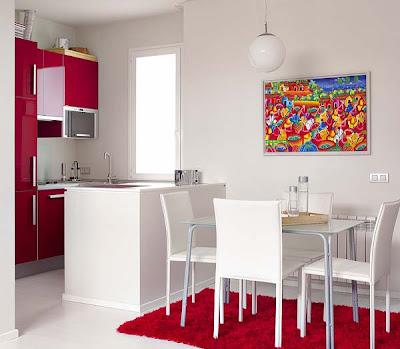 Decoracion actual de moda un piso moderno de 45 m for Cuadros cocina ikea