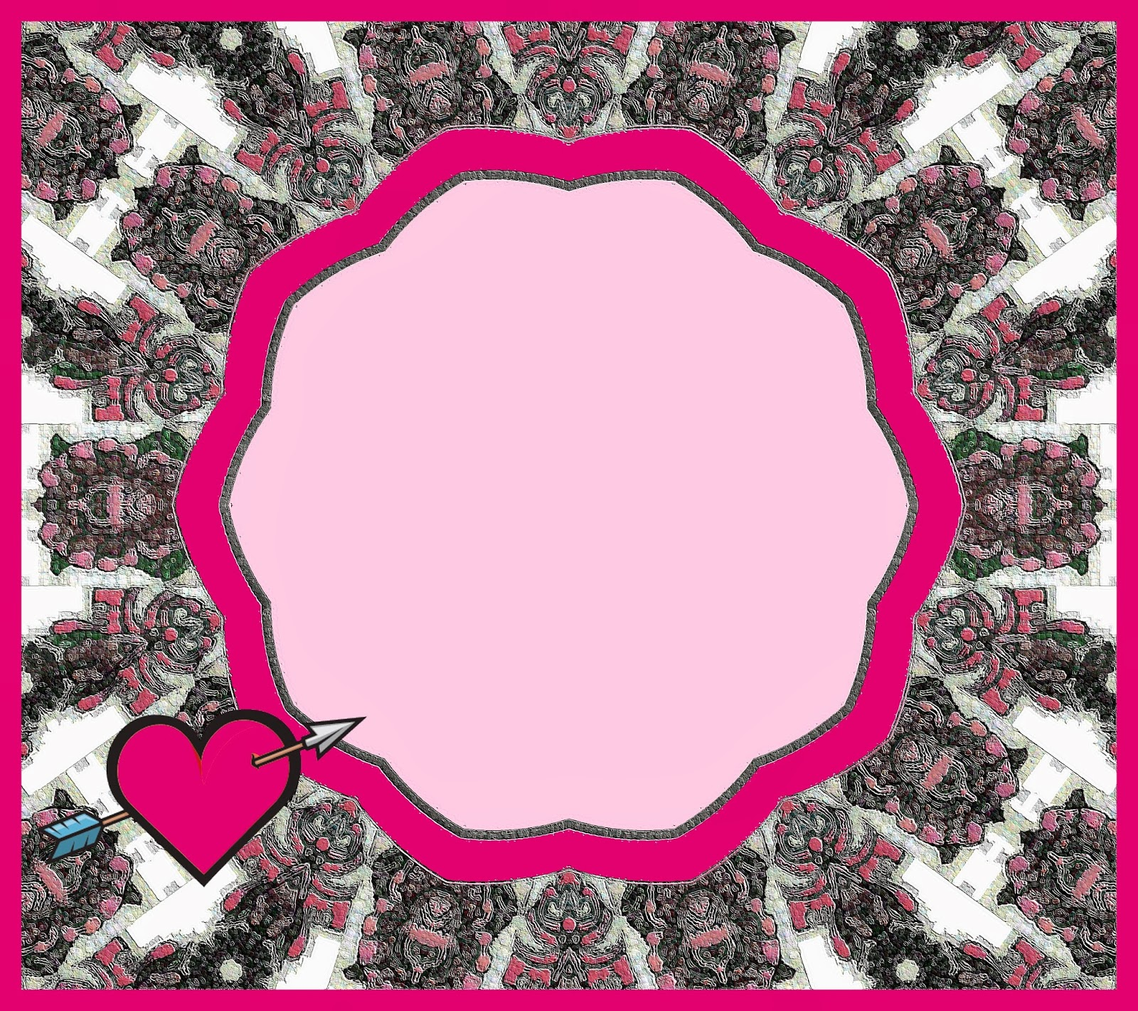 Love Borders And Frames Rose heart borders and frames